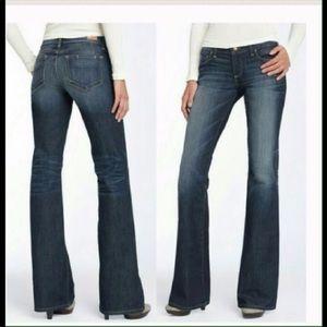 Paige Laurel Canyon flared blue jeans Sz 30